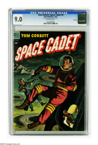 Tom Corbett Space Cadet #9 File Copy (Dell, 1954) CGC VF/NM 9.0 Off-white pages. Only three copies of this issue have be...