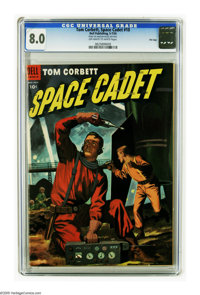 Tom Corbett Space Cadet #10 File Copy (Dell, 1954) CGC VF 8.0 Off-white to white pages. Only one other copy of issue #10...