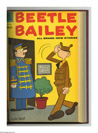 Beetle Bailey #17-28 Bound Volume (Dell, 1958-60). These are Western Publishing file copies that have been trimmed and b...