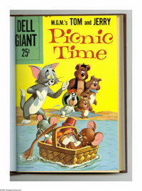 Dell Giants #21-24 Bound Volume (Dell, 1959). This selection of Western Publishing comics that have been trimmed and har...