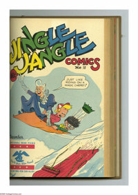 Jingle Jangle Comics #13-24 Bound Volume (Eastern Color, 1945-46). These are Western Publishing file copies that have be...