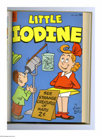 Little Iodine #25-36 Bound Volume Gold (Dell, 1954-57). This set of Western Publishing file copies have been trimmed and...