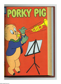 Porky Pig #61-72 Bound Volume (Dell, 1958-60). These are Western Publishing file copies that have been trimmed and bound...
