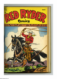 Red Ryder Comics #61-72 Bound Volume (Dell, 1948-49). These are Western Publishing file copies that have been trimmed an...