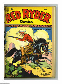 Red Ryder Comics #73-84 Bound Volume (Dell, 1949-50). These are Western Publishing file copies that have been trimmed an...