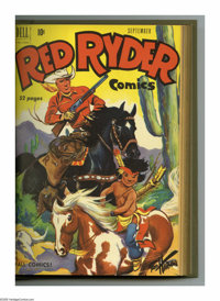 Red Ryder Comics #85-96 Bound Volume (Dell, 1950-51). These are Western Publishing file copies that have been trimmed an...