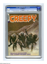 Creepy #15 (Warren, 1967) CGC NM 9.4 Off-white pages. Incredible cover art by Frank Frazetta. Contains a 16 page time tr...