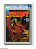 Magazines:Horror, Creepy #58 (Warren, 1973) CGC NM 9.4 Off-white pages. Manuel Sanjulian cover and biography. Richard Corben, Reed Crandall, a...