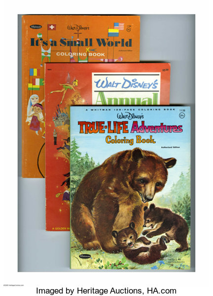 Disney Coloring Book Group (Walt Disney, 1964-66) | Lot #16361 ...