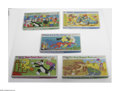 """Cartoon Character Board Games (Whitman, 1975-77). Included are """"Woody Woodpecker's Big Baja Rally Game,"""" """"..."""