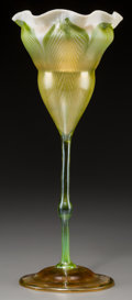 Art Glass:Tiffany , Tiffany Studios Favrile Glass Floriform Vase. Circa 1907. EngravedL.C.T., 744B. Ht. 12-1/2 in.. ...