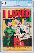 Golden Age (1938-1955):Romance, I Loved #32 (Fox Features Syndicate, 1950) CGC VG+ 4.5 Light tan tooff-white pages....