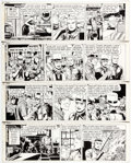 George Wunder Terry and the Pirates Daily Comic Strip Original Art Group of 4 (N Comic Art