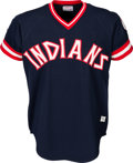 Baseball Collectibles:Uniforms, 1976 Ray Fosse Game Worn Cleveland Indians Jersey, MEARS A9.5. ...