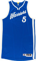 Basketball Collectibles:Uniforms, 2015-16 Marreese Speights Game Worn Golden State Warriors ChristmasDay Jersey with Microphone Pocket & NBA Letter....