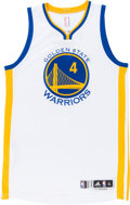 Basketball Collectibles:Uniforms, 2015-16 Brandon Rush Game Worn Golden State Warriors Jersey withNBA Letter. ...