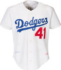 Baseball Collectibles:Uniforms, 1980's Clem Labine Game Worn Los Angeles Dodgers Jersey (Post Career). ...