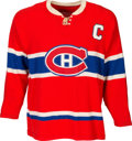 Hockey Collectibles:Uniforms, 1960's Jean Beliveau Signed Game Worn Montreal Canadiens Jersey....
