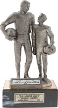 Football Collectibles:Others, 1994 Johnny Unitas Signed Pewter Statue....