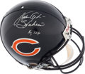 """Football Collectibles:Helmets, Walter Payton Signed Chicago Bears Full Sized """"Authentic"""" Helmet. ..."""