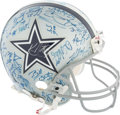 Football Collectibles:Helmets, 1992-93 Dallas Cowboys Super Bowl Team Signed Helmet with Jimmy Johnson and Jerry Jones. . ...