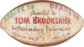 """Football Collectibles:Balls, 1961 Painted Game Football Presented to Tom Brookshier """"For Outstanding Performance"""". ..."""