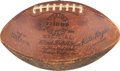 Football Collectibles:Balls, 1960 NFL Championship Game Football Presented to Tom Brookshier. ...