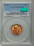 Lincoln Cents: , 1953 1C MS66 Red PCGS. CAC. PCGS Population: (532/18). NGC Census: (943/24). Mintage 256,883,808. ...