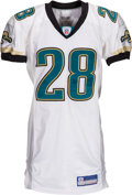 Football Collectibles:Uniforms, 2002 Fred Taylor Game Worn Jacksonville Jaguars Jersey - Photo Matched to 11/17 vs. Texans....