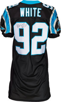 competitive price df20e 1bd81 2000's Reggie White Signed Carolina Panthers Jersey ...
