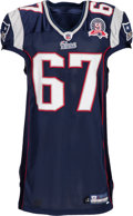 Football Collectibles:Uniforms, 2009 Dan Koppen Game Worn New England Patriots Jersey....
