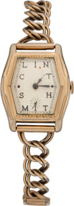 Hockey Collectibles:Others, 1936-37 Clint Smith Philadelphia Ramblers Presentational Watch....