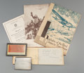 General Americana: , A Sterling Silver North Pole Byrd Expedition Presentation CigaretteCase with Related Richard Byrd Memorabilia, circa 1926-1... (Total:3 Items)