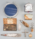 Decorative Arts, Continental:Other , A Group of Ten Miscellaneous Desk WaresMarks: ...