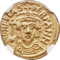 Ancients:Byzantine, Ancients: Phocas (AD 602-610). AV solidus (16mm, 4.49 gm,6h). NGC MS 5/5 - 4/5....