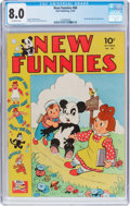 Golden Age (1938-1955):Funny Animal, New Funnies #68 (Dell, 1942) CGC VF 8.0 Off-white pages....