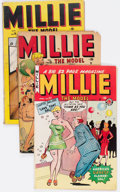 Golden Age (1938-1955):Romance, Millie the Model Group of 4 (Marvel/Atlas, 1948-55).... (Total: 4Comic Books)