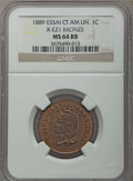 Central America, Central America: Central American Union bronze Essai Centavo 1889 MS64 Red and Brown NGC,...