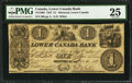 Canadian Currency: , Montreal, LC- Lower Canada Bank $1 Nov. 4, 1837 Ch. # 415-10-02.....