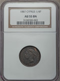 Cyprus:British Colony, Cyprus: British Colony. Victoria 1/4 Piastre 1887 AU55 Brown NGC,...