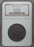 Cyprus:British Colony, Cyprus: British Colony. Victoria Piastre 1887 XF45 Brown NGC,...