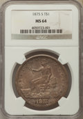 Trade Dollars, 1875-S T$1 Type One Reverse MS64 NGC....