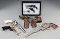 Other:American, Eight Model and Toy Pistols, 20th century. 5-1/8 inches high x12-5/8 inches wide (13.0 x 32.1 cm) (largest). Property fro...(Total: 6 Items)