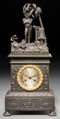 Timepieces:Clocks, A French Second Empire Gilt and Patinated Bronze Figural Napoleon During the Egyptian Campaign Clock, circa 1830...