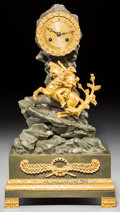 Timepieces:Clocks, Another French Second Empire Gilt and Patinated Bronze Figural Napoleon Clock, after Jacques-Louis David, circa 1830. 16-1/4...