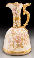 Ceramics & Porcelain, A Faience Manufacturing Company Ewer Vase, Greenpoint, New York, circa 1885. Marks: FMCo. 14-3/8 inches high (36.5 cm). ...
