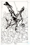 Original Comic Art:Covers, Brian Stelfreeze Catwoman / Wildcat #4 Cover Original ArtCover (DC, 1998)....