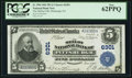 National Bank Notes:Pennsylvania, Pittsburgh, PA - $5 1902 Plain Back Fr. 598 The Mellon NB Ch. #6301. ...