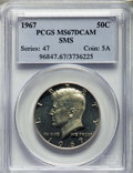 SMS Kennedy Half Dollars, 1967 50C SMS 67 Deep Cameo PCGS. PCGS Population: (94/18). NGCCensus: (183/21). ...