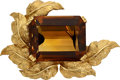 Estate Jewelry:Brooches - Pins, Citrine, Gold Pendant-Brooch. ...